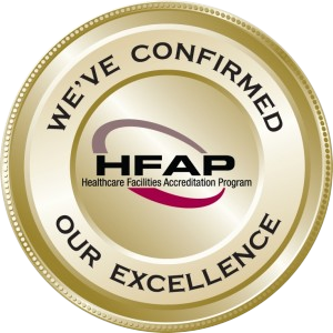 We've Confirmed our Excellence. HFAP Healthcare Facilities Accreditation Program
